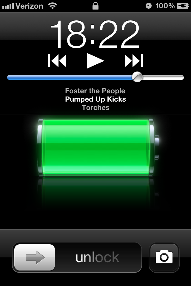 Discovery How to Quick Access Music Camera Lock Screen iPhone 4S 640x960