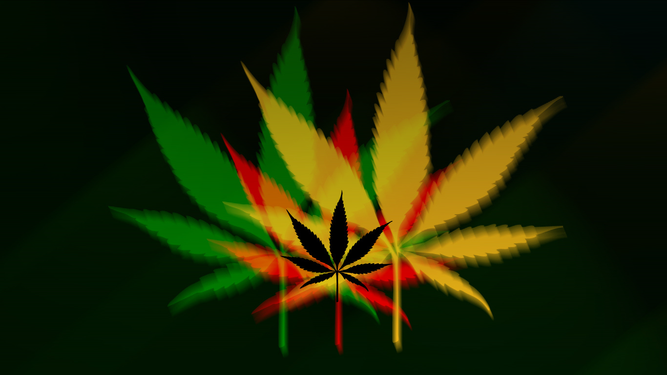 Weed wallpaper by nisfor 1366x768