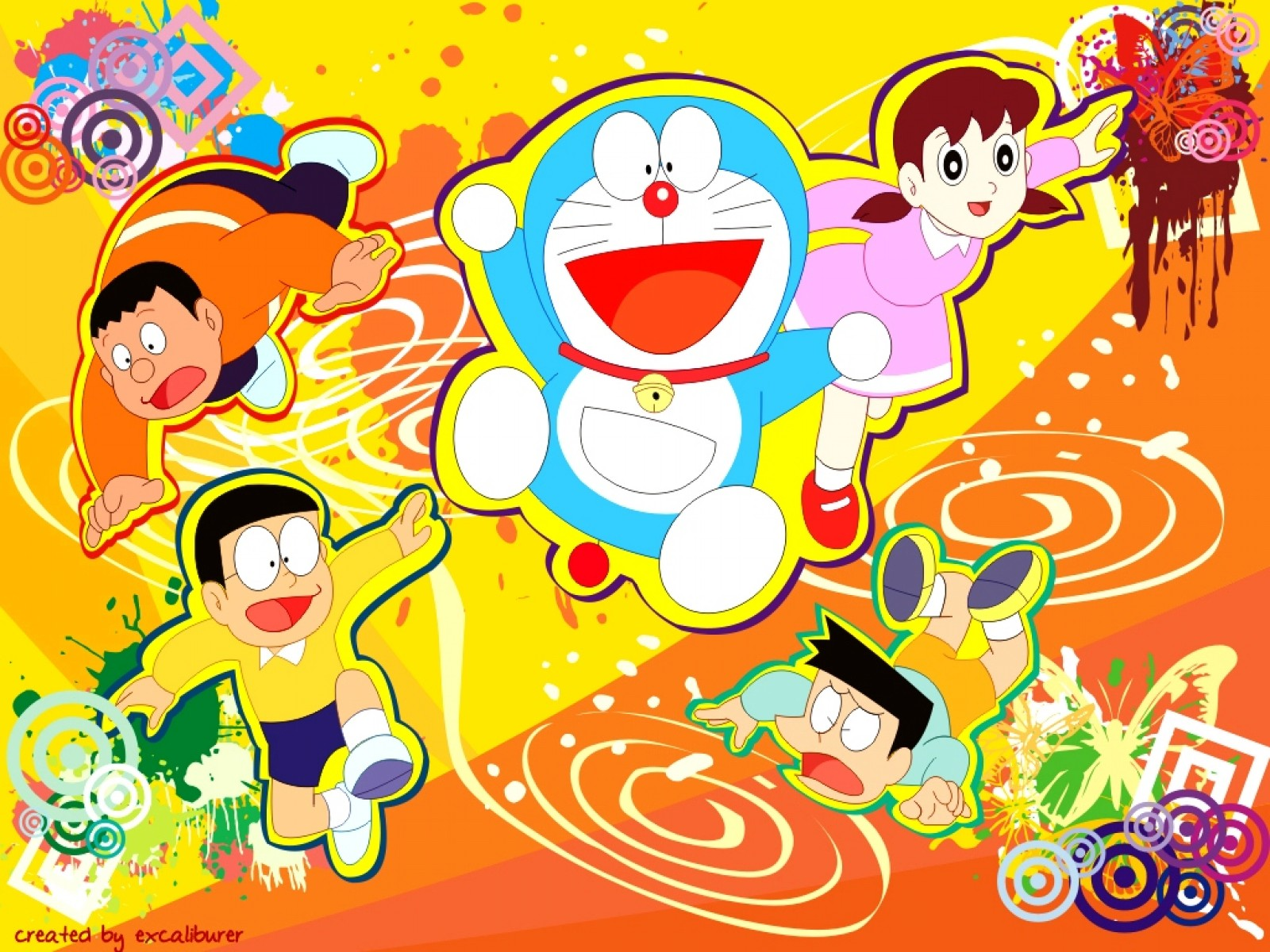 Wallpaper Doraemon HD Keren 1600x1200