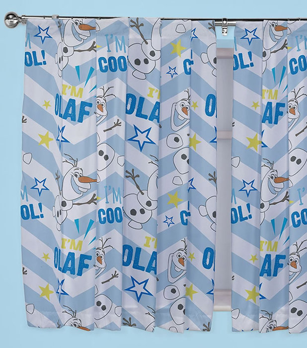 Frozen Disney Frozen OLAF Single Bedding with Matching Curtains 72s 618x700
