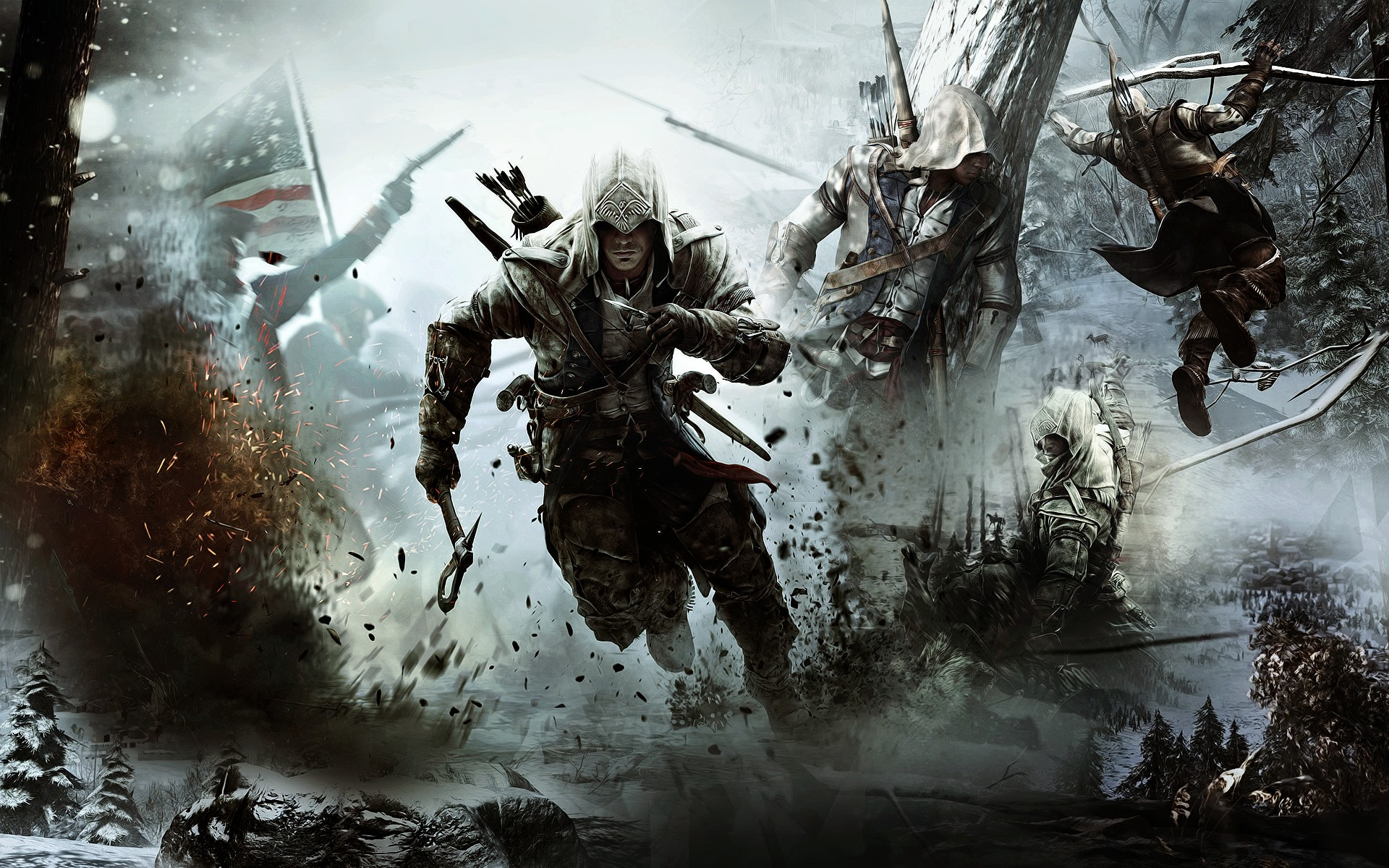 Assassins Creed III Wallpaper Connor HD   Select Game 1920x1200