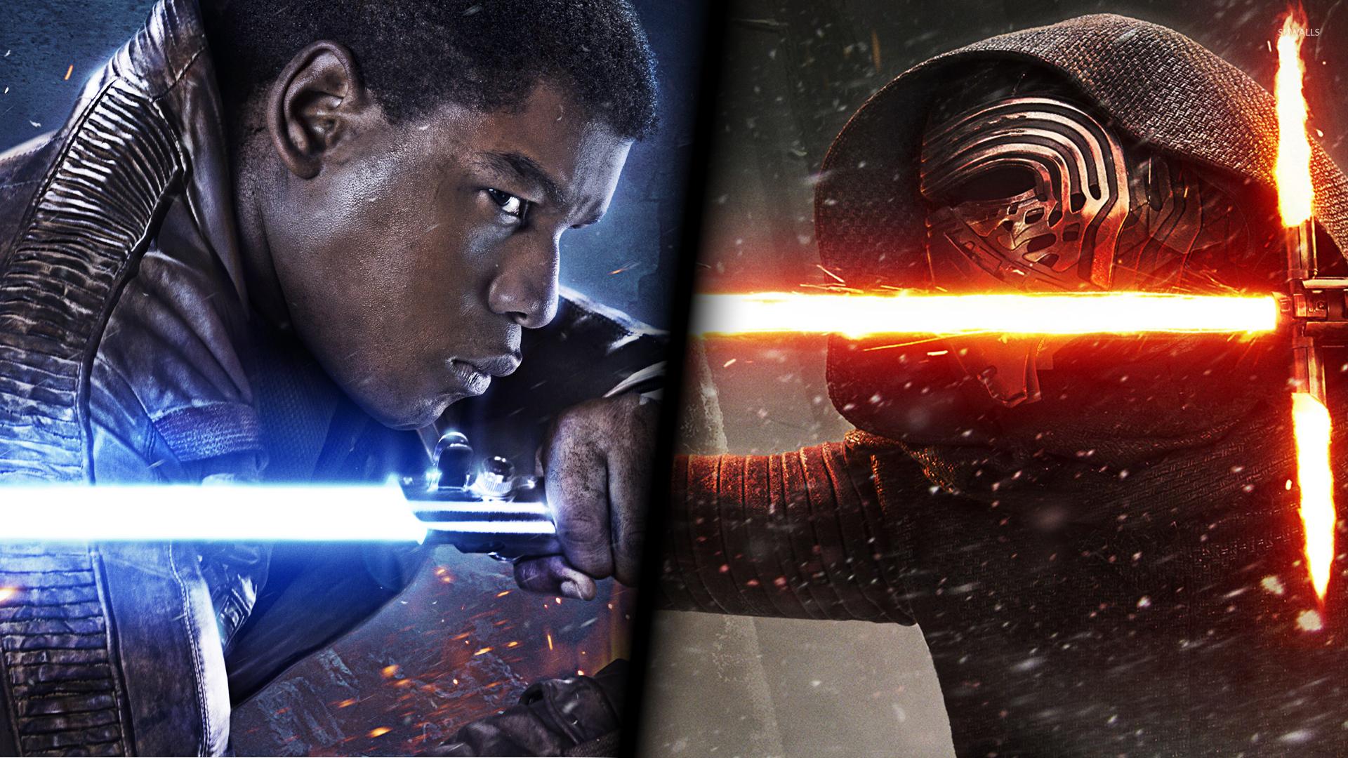 Finn vs Kylo Ren in Star Wars The Force Awakens wallpaper   Movie 1280x800