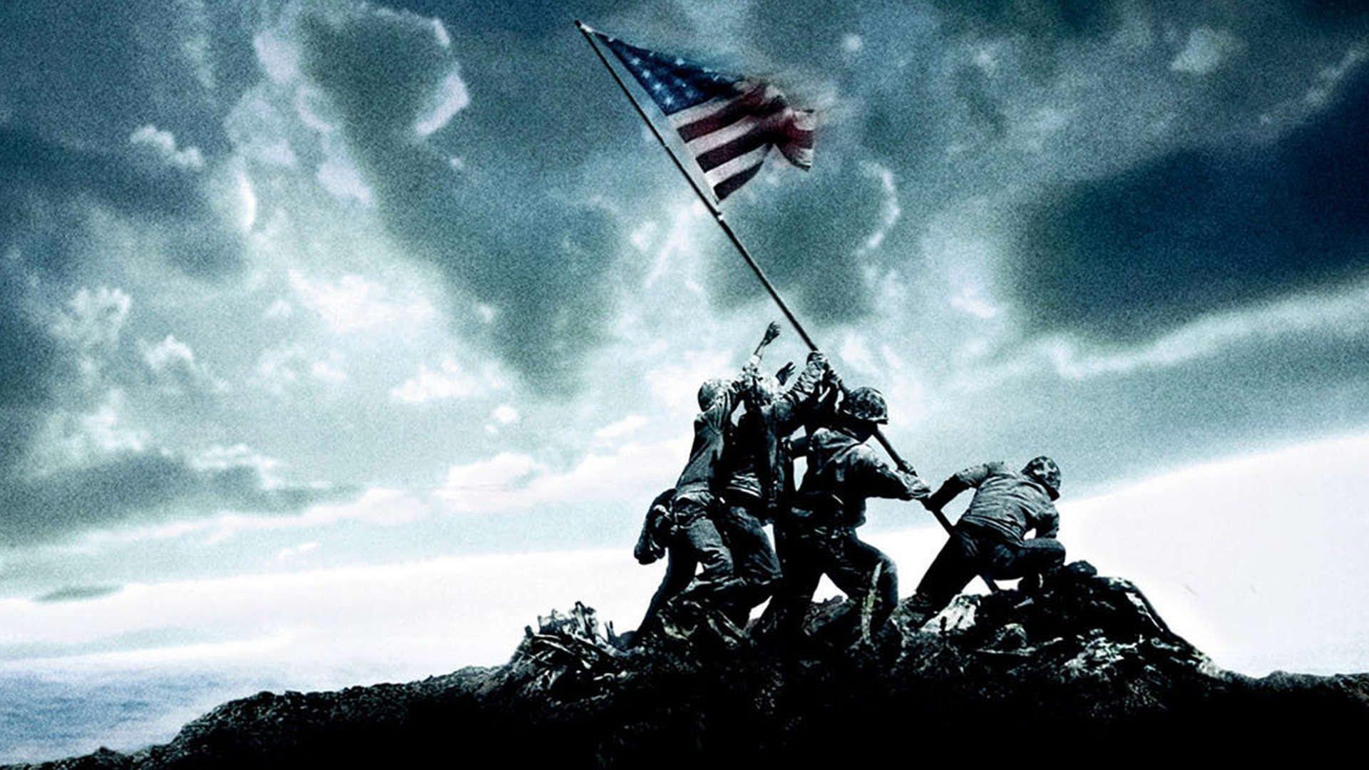 Iwo Jima Flag Raising Wallpaper 1920x1080