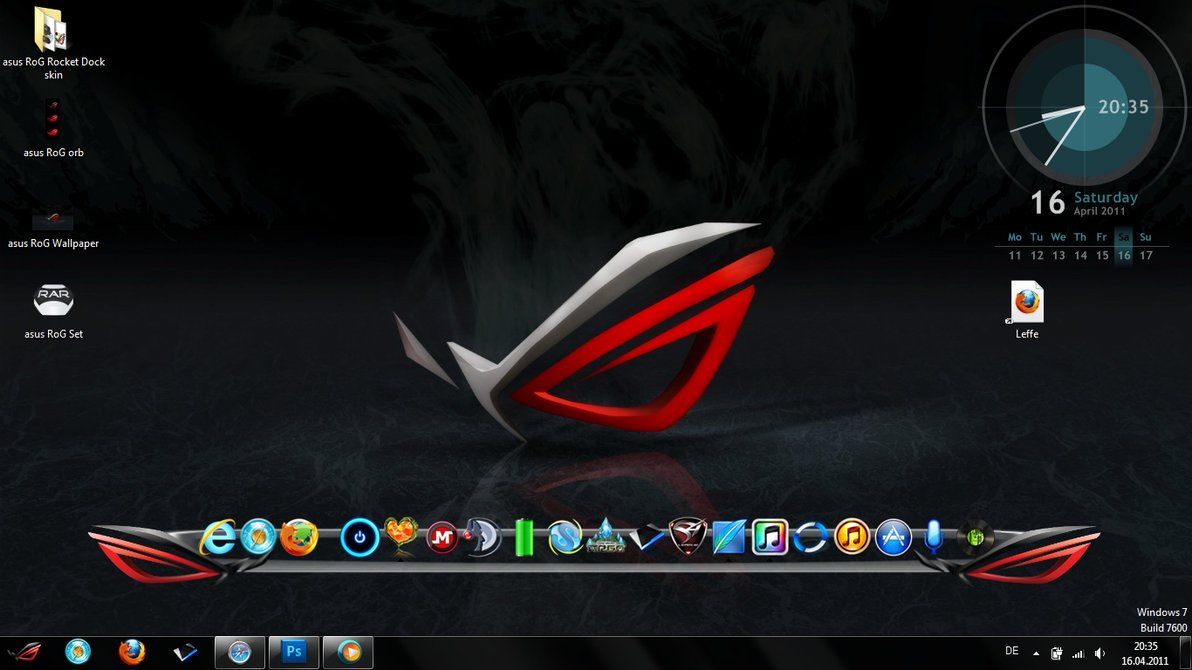 asus RoG Desktop Set by LordFussel 1192x670