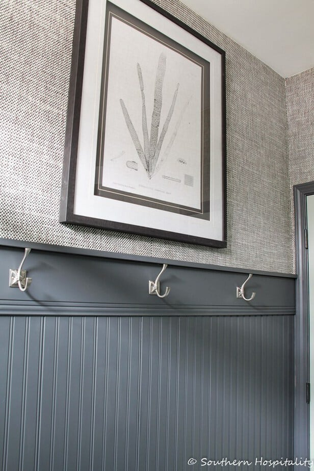 How to Hang Beadboard Wallpaper Why Its Better than the Real Thing 616x924