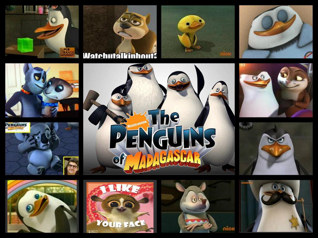 Los pinginos de Madagascar imgenes Fave POM characters collage 1024x768