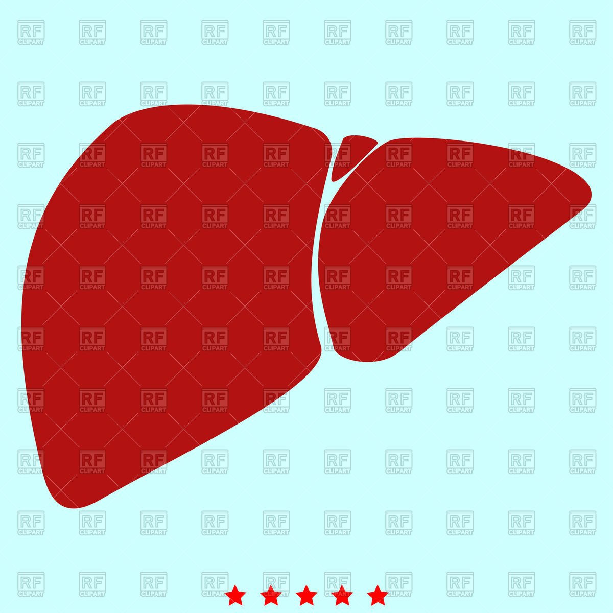 Liver simple icon on cyan background Vector Image of Healthcare 1200x1200