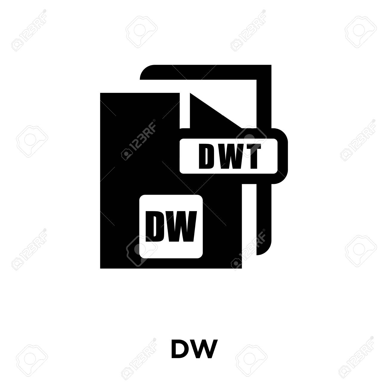 DW Icon Vector Isolated On White Background Logo Concept Of 1300x1300