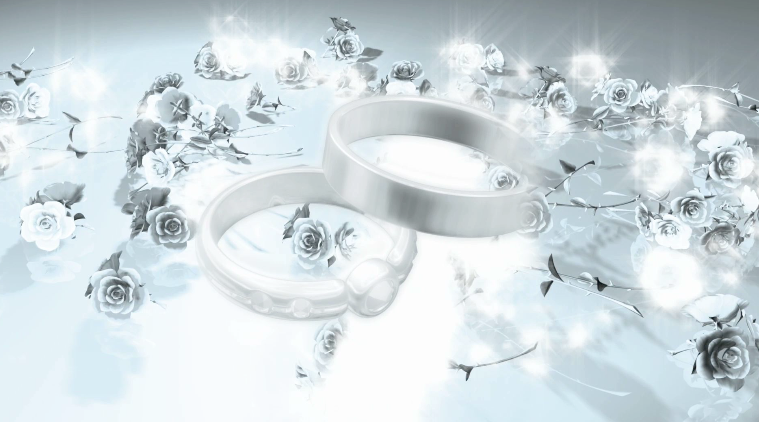 Love And Weddings Background Wedding Rings Motion Backgrounds 759x422