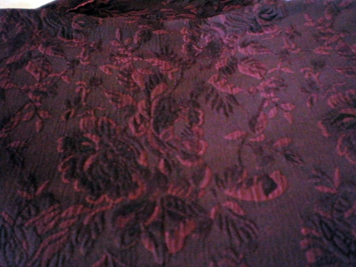 BROCADE Damask Jacquard Fabrics Pack Upholstery Gothic Black Red 700x525