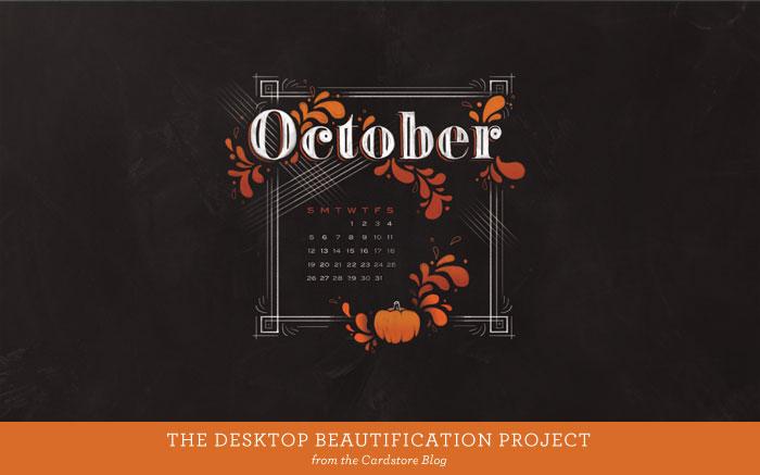 Hello October 2014 a desktop calendar download   Cardstore 700x437