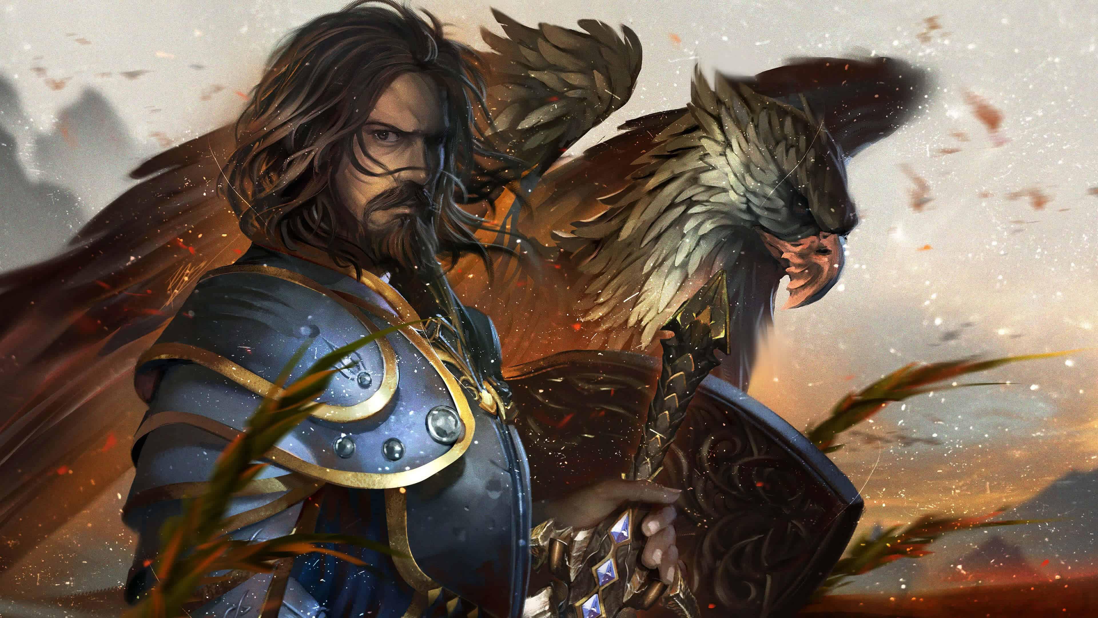 World Of Warcraft Anduin Lothar UHD 4K Wallpaper Pixelz 3840x2160