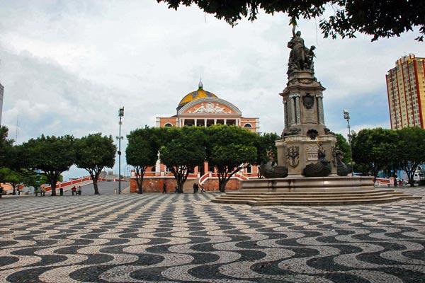 Wallpaper groups Portuguese pavements Manaus Largo de So 600x400