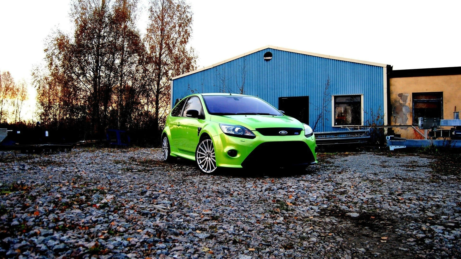 Green Ford Focus RS Wallpaper   HD 1920x1080