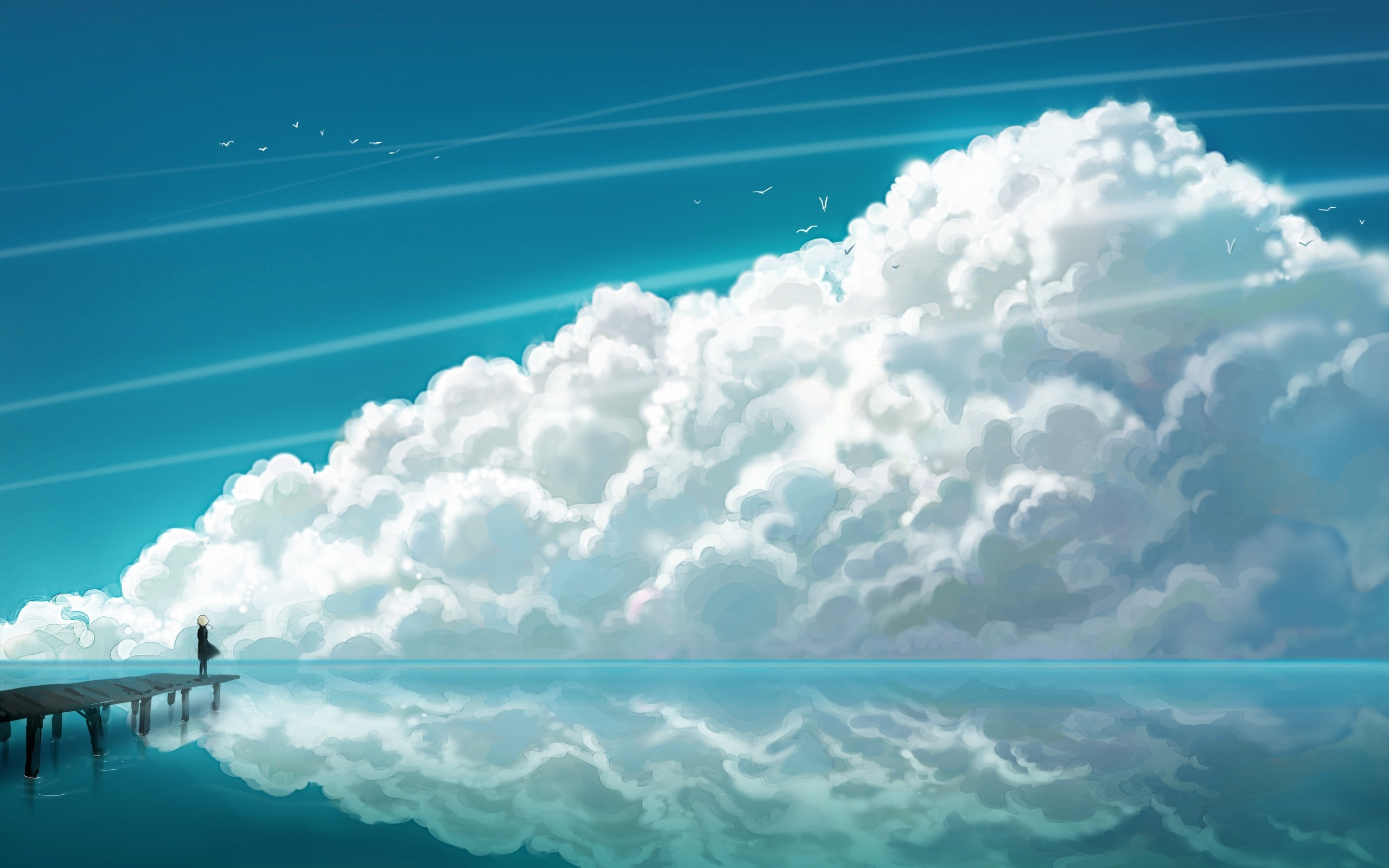 Cloud Wallpaper Anime Art HD Wallpapers Desktop 2560x1600