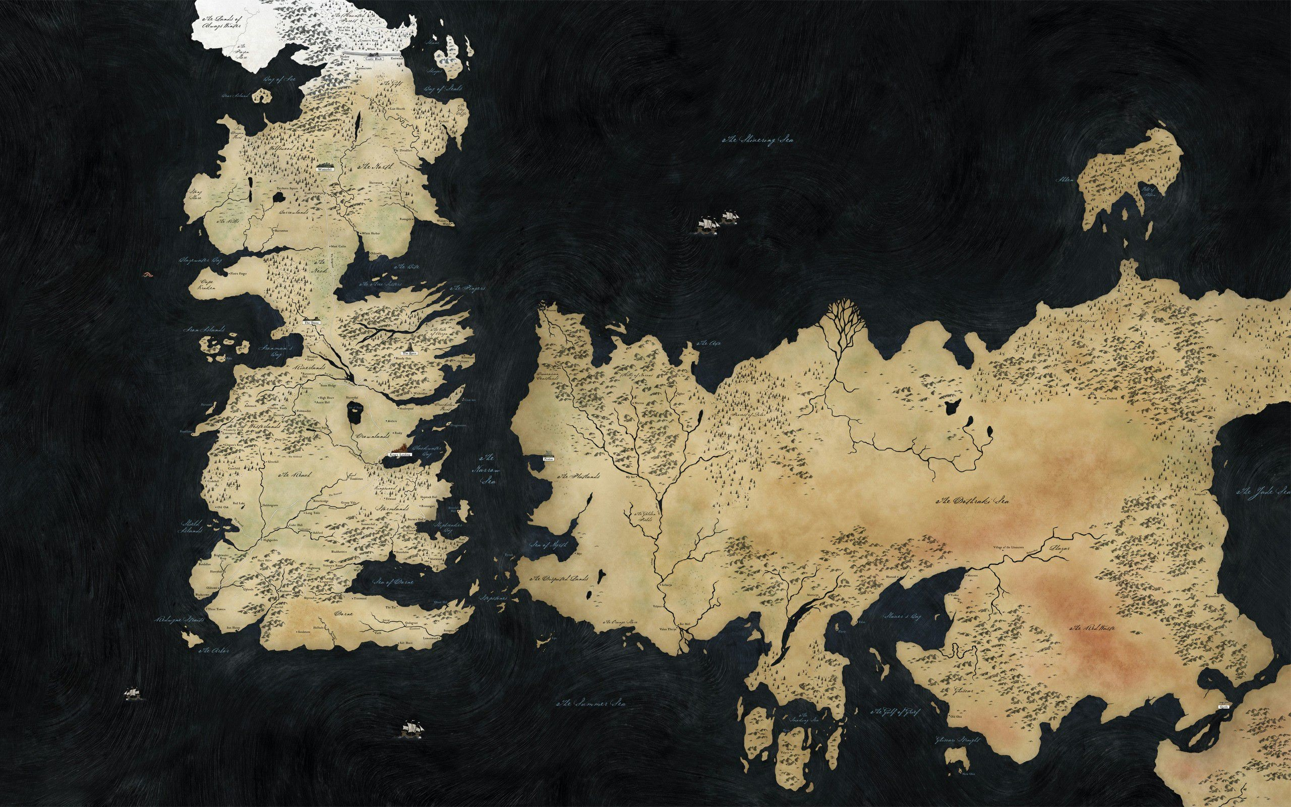 34 Game Of Thrones Maps Wallpapers On Wallpapersafari