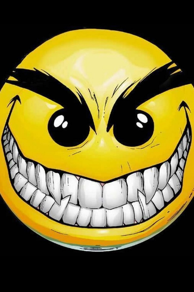 Evil Smiley Face from category cartoons wallpapers for iPhone 640x960