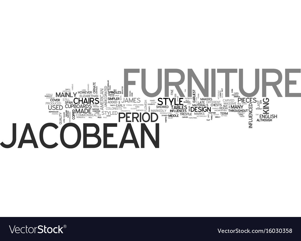 Jacobean style antique furniture text background Vector Image 1000x802