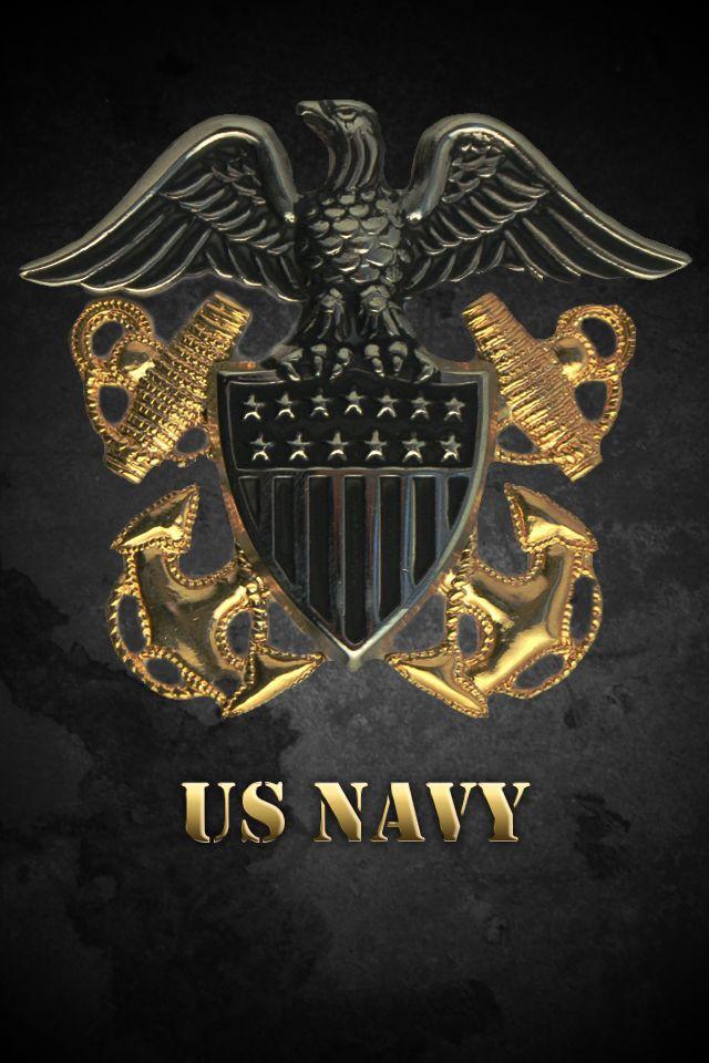 Us navy logo wallpaper   SF Wallpaper 640x960