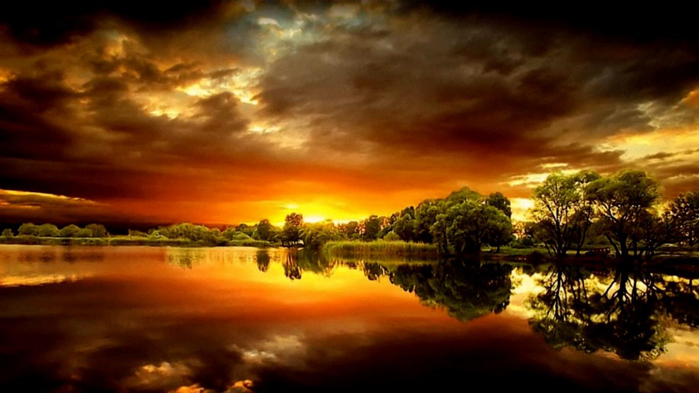 HD Desktop Wallpapers Online Most Spectacular Sunset Wallpapers 1366x768