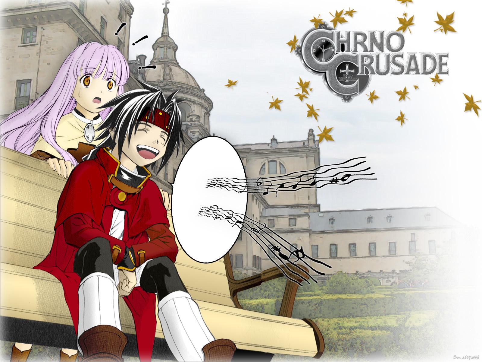 Chrno Crusade Wallpaper in front of monastery   Minitokyo 1600x1200