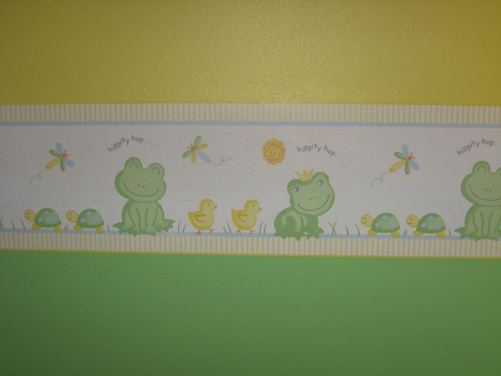 Lambs and Ivy Froggy Wall Border Reviews Buzzillionscom 1024x768