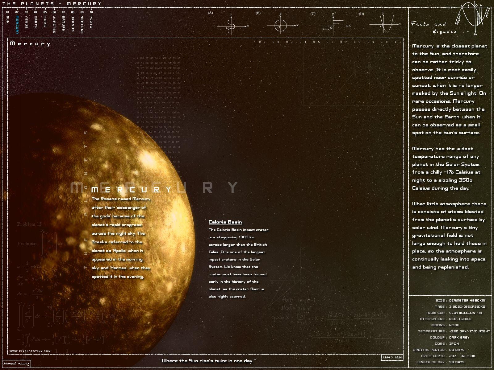 Google Backgrounds Mercury Space Coordinates Google Themes 1600x1200
