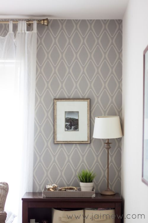 removable wallpaper accent wall   Devine Diamond in Twig by target 500x750