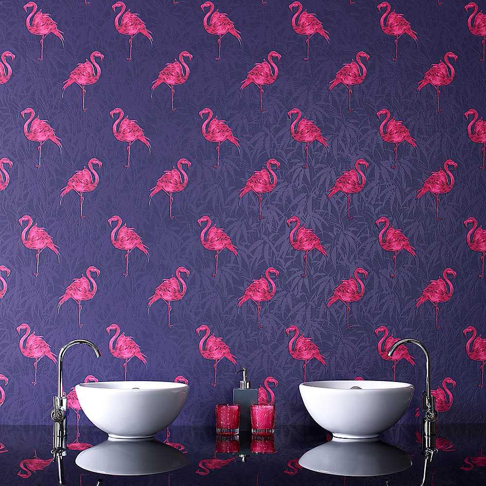Graham Brown Flamingo Wallpaper Wallpaper House Garden 1000x1000