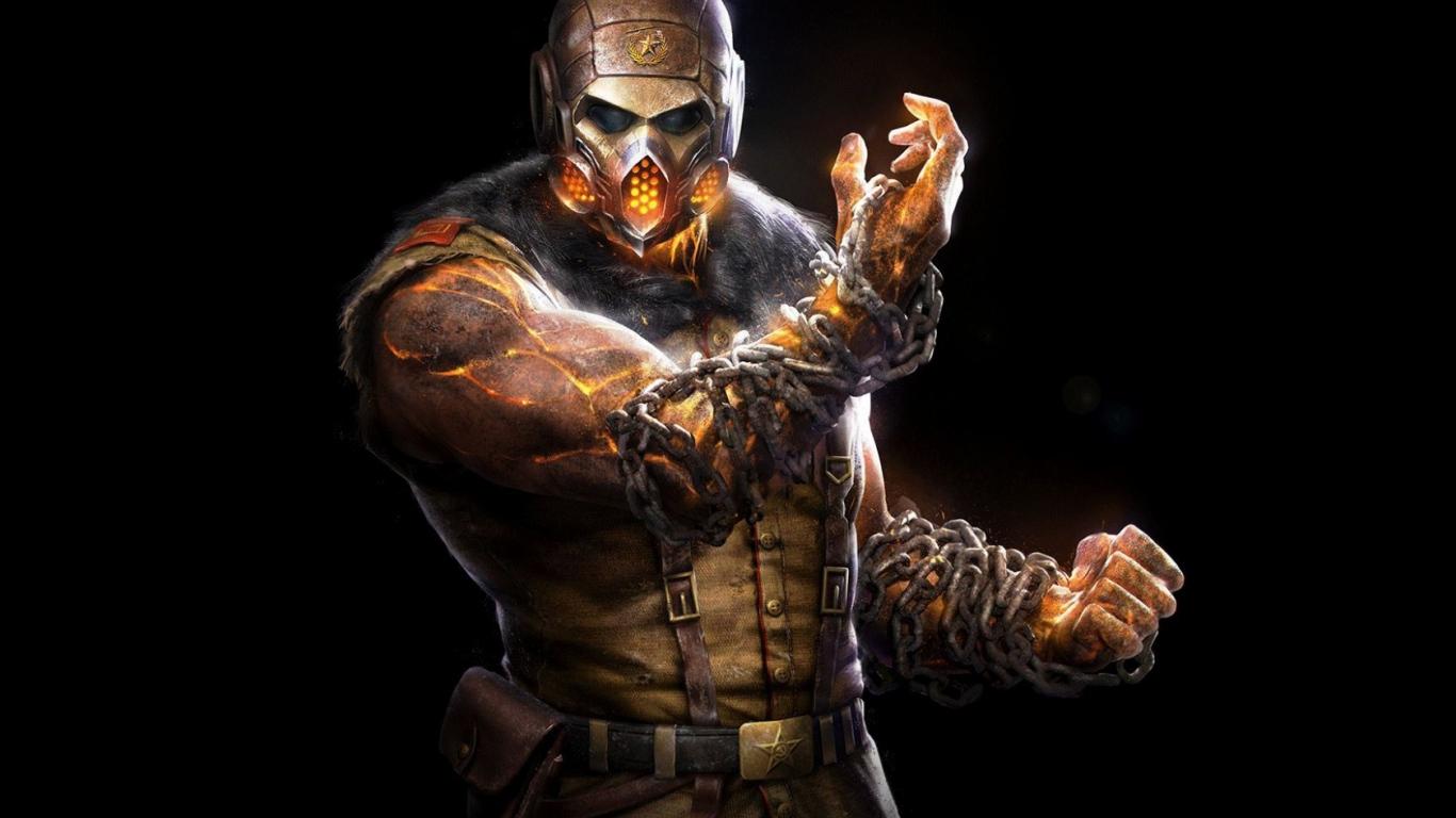 HD Background Mortal Kombat X Scorpion Ninja Mask Black 1366x768