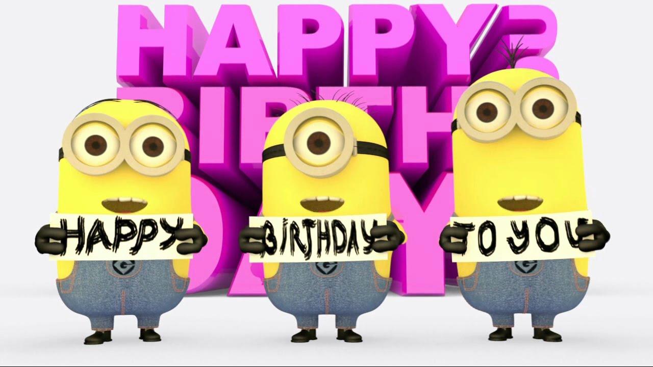 Free download HAPPY BIRTHDAY MINIONS Birthday Card Happy