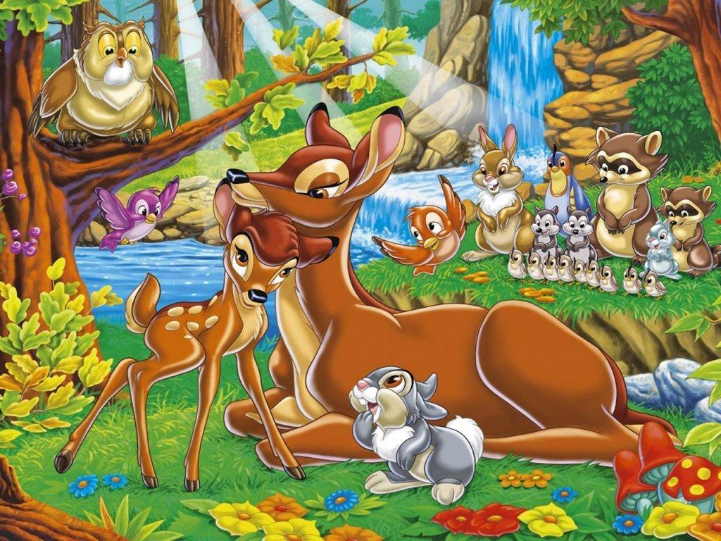 Classic Disney Bambi Wallpaper 1024x768