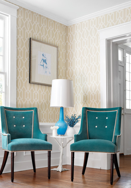 Trellis and Lattice Wallcovering   Modern   Wallpaper   boston   by 448x640
