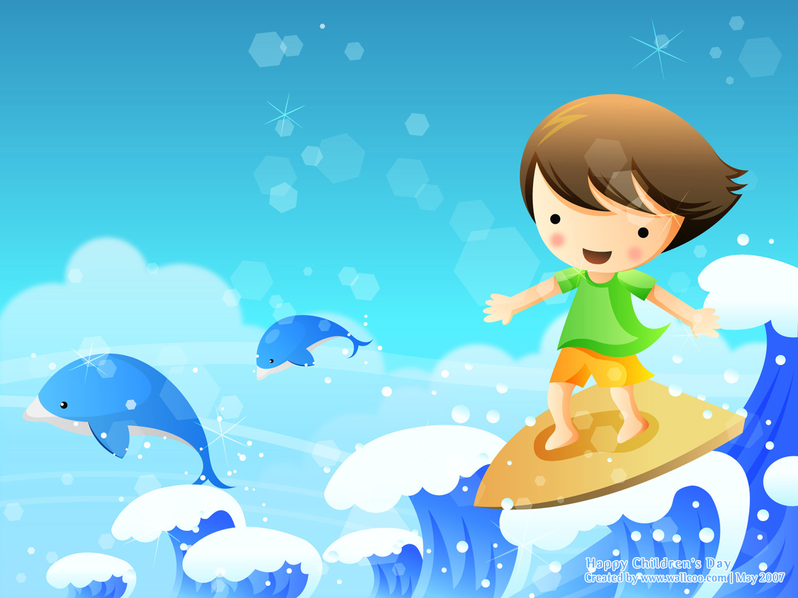 Colourful Illustrations for Childrens Day 16001200 NO24 Wallpaper 1600x1200