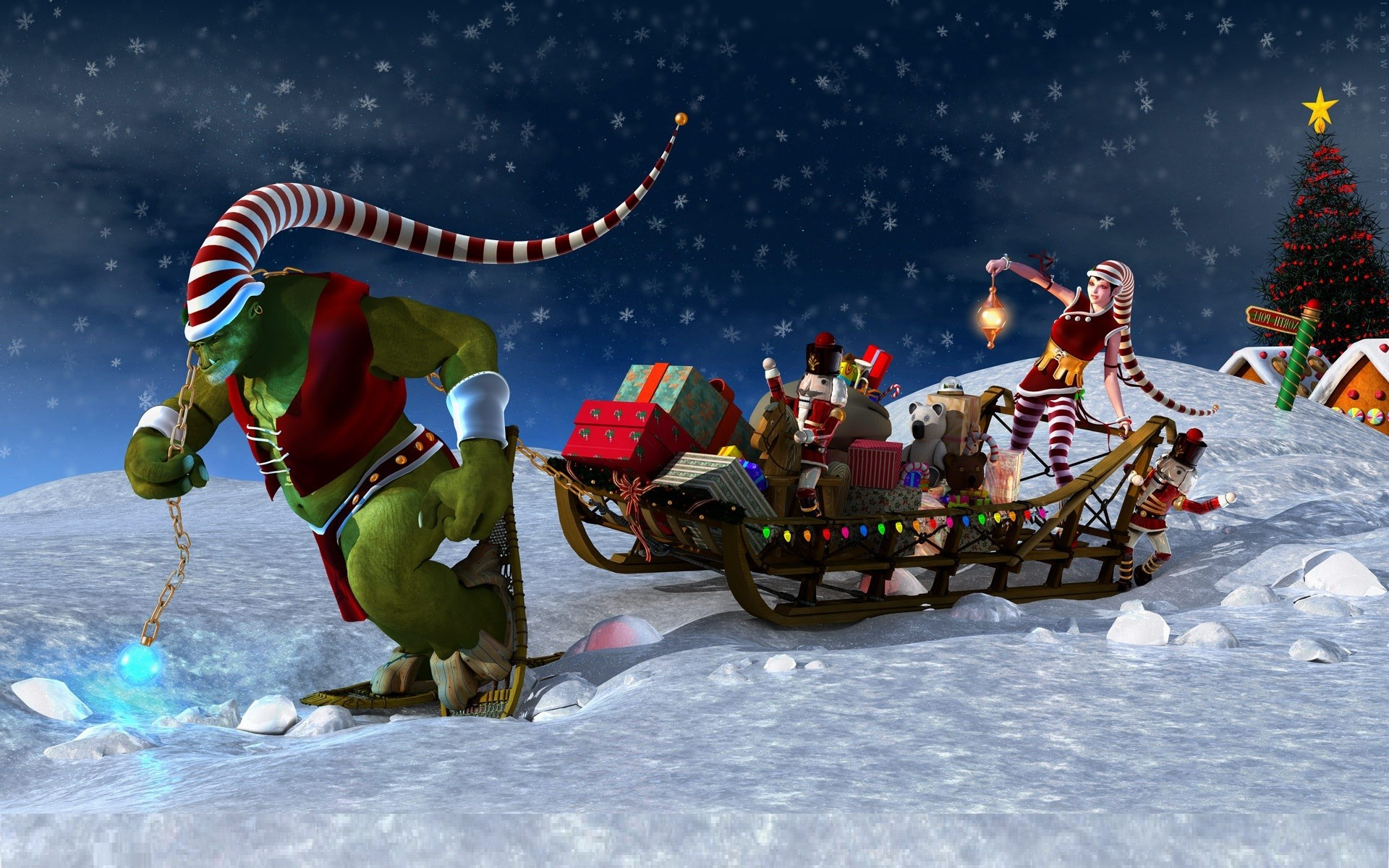 Animated Christmas Backgrounds For Desktop 17359 Wallpaper 1920x1200