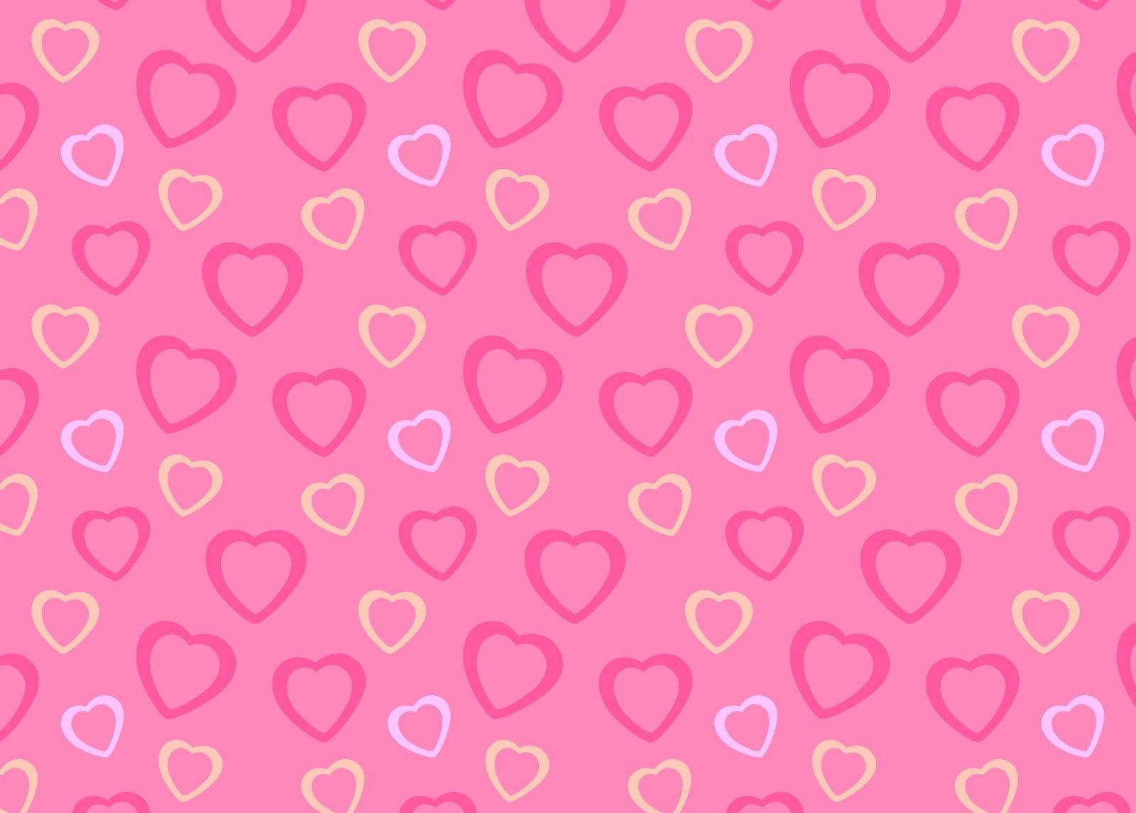 67 Pink Hearts Background On Wallpapersafari