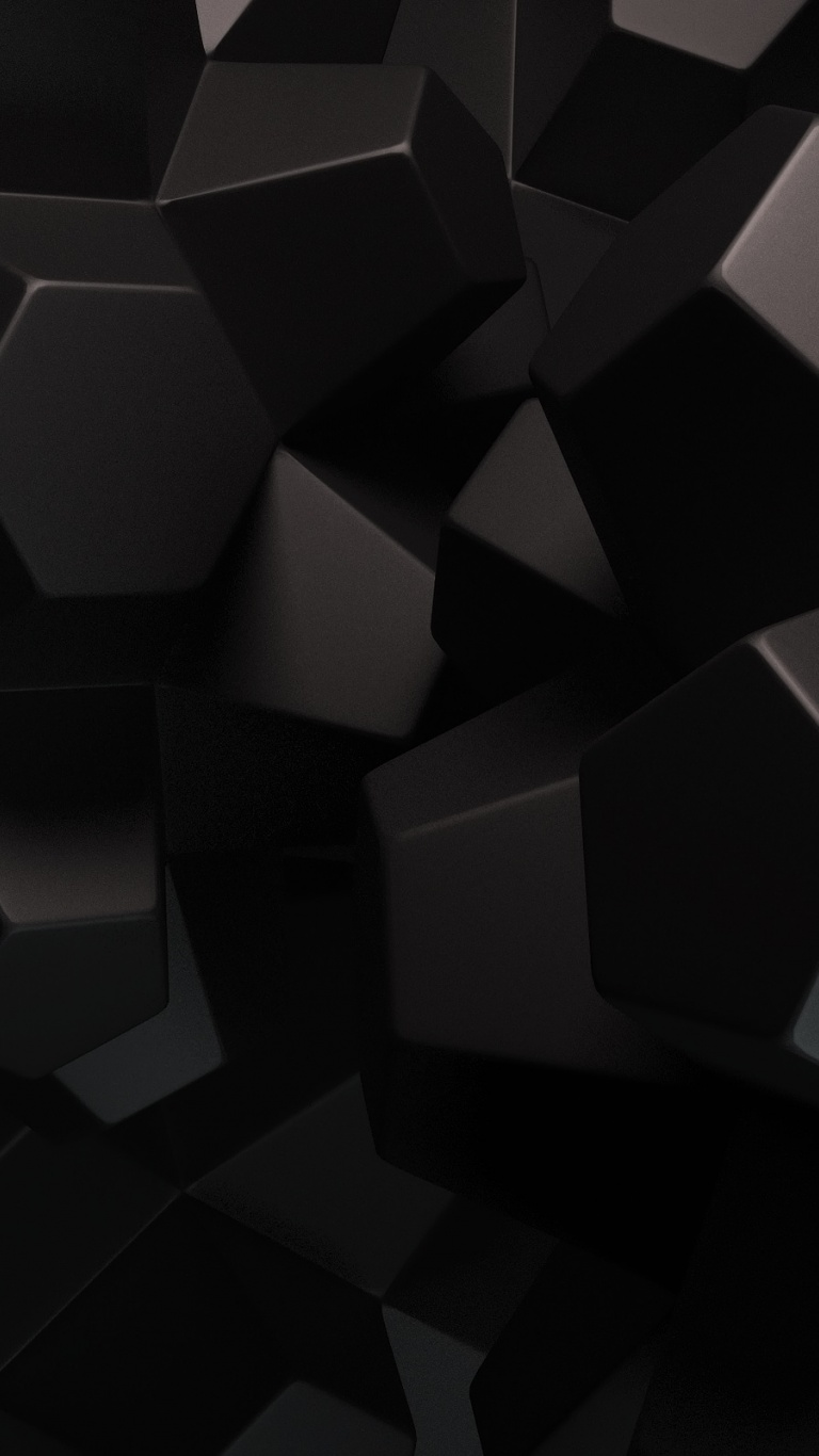 768x1366 Abstract Black Shapes Surface rt wallpaper
