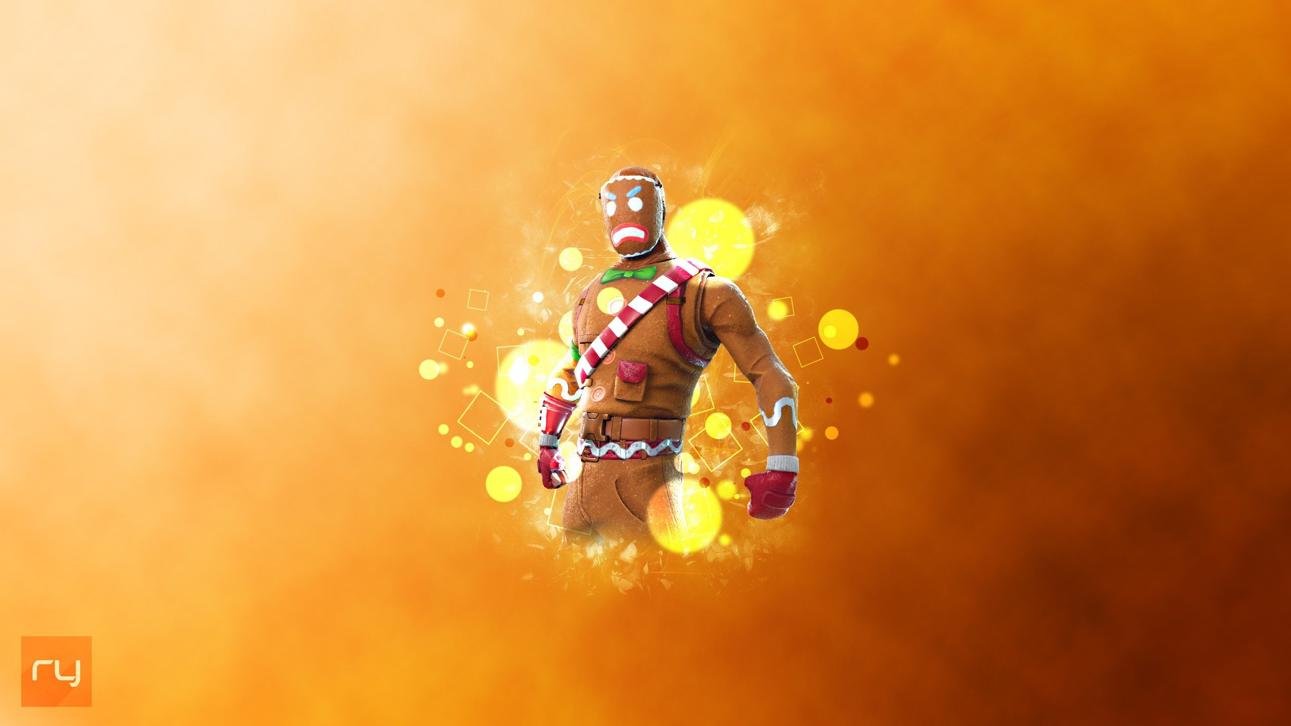 Free Download Gingerbread Outfit Fortnite Battle Royale Art