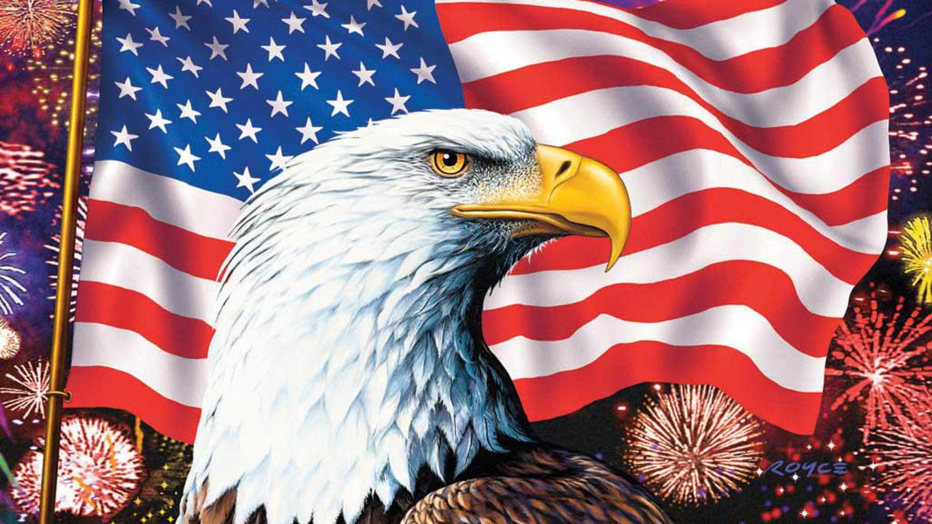 bald eagle american flag wallpaper