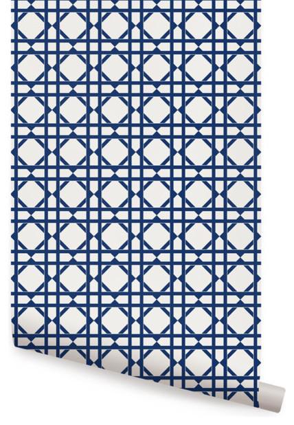 Navy Geometric Wallpaper Wallpapersafari