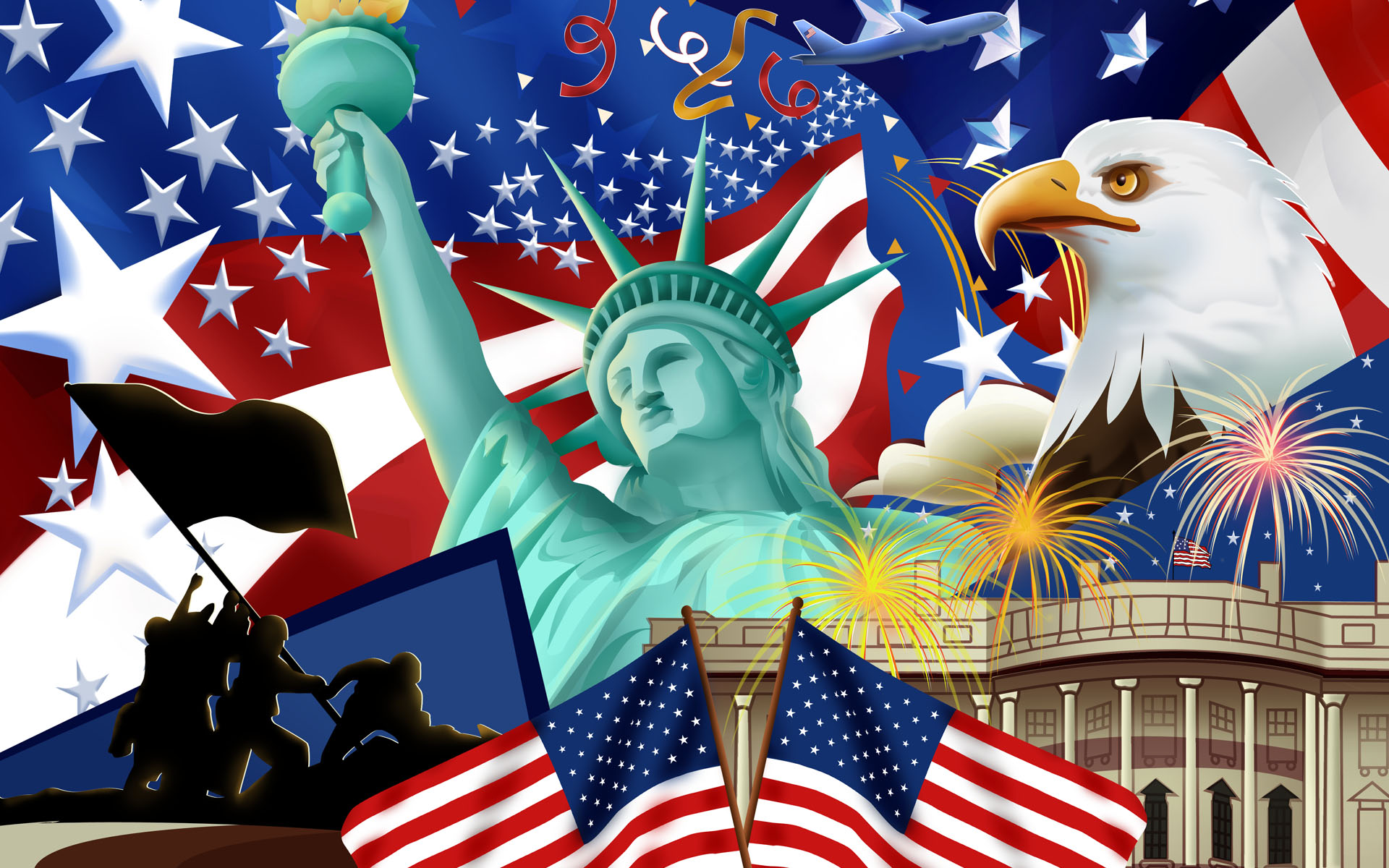 Independence Day   United States Of America Wallpaper 23406746 1920x1200