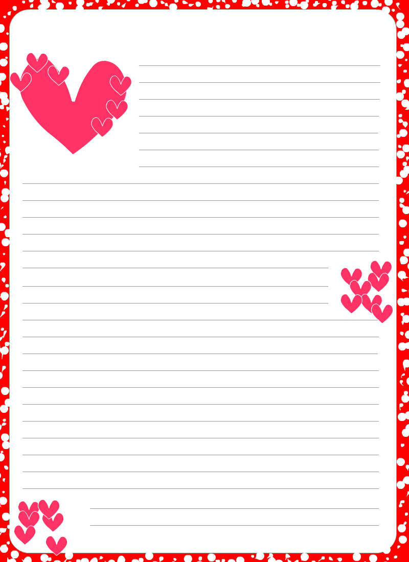 romantic backgrounds for letters to print