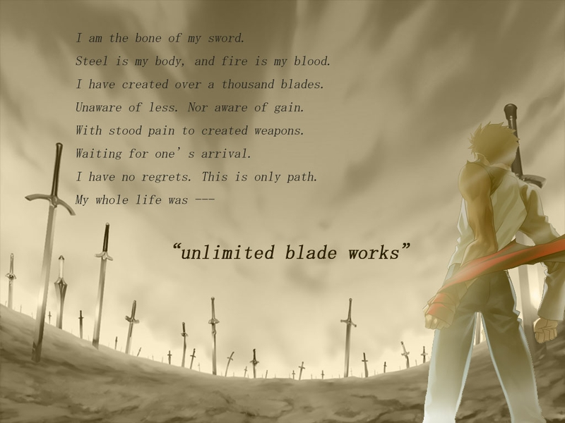 fatestay night quotes unlimited blade works blade emiya shirou swords 800x600