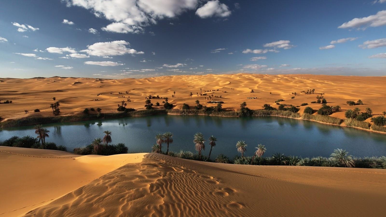 Mystery Wallpaper Oasis in the Libyan Desert 1600x900