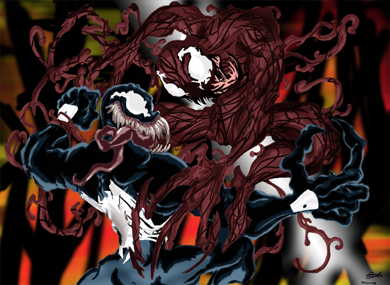 venom vs carnage wallpaper wallpapersafari