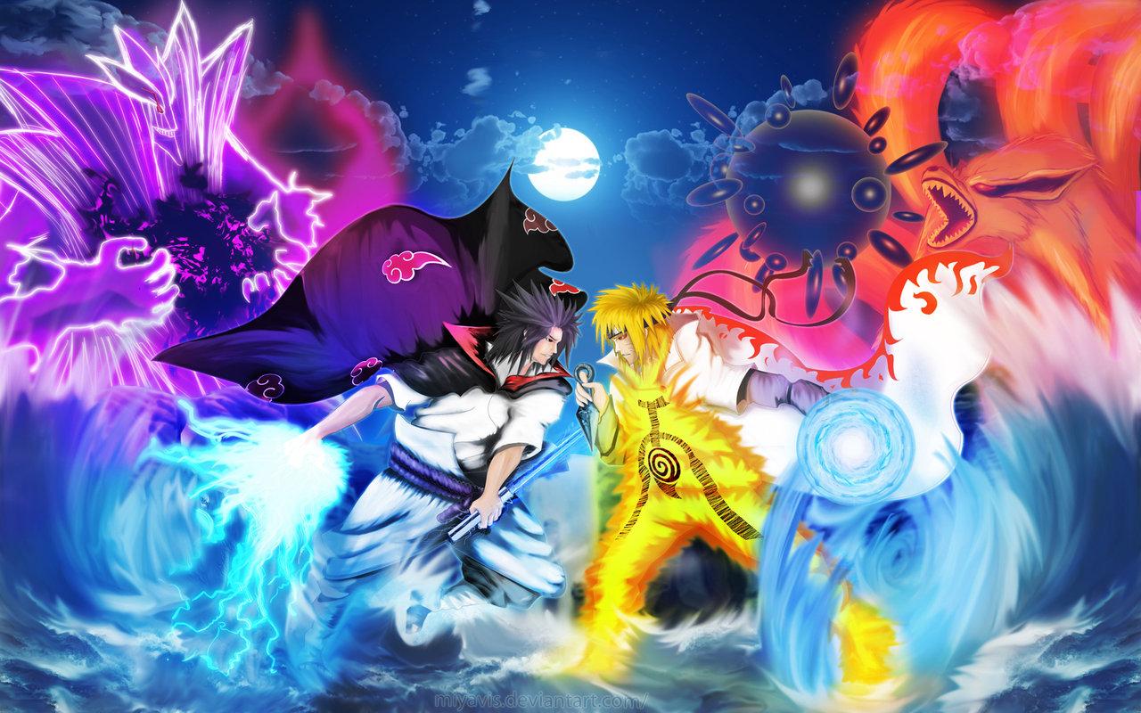Naruto vs Sasuke Shippuden HD Wallpaper of Anime   hdwallpaper2013com 1280x800