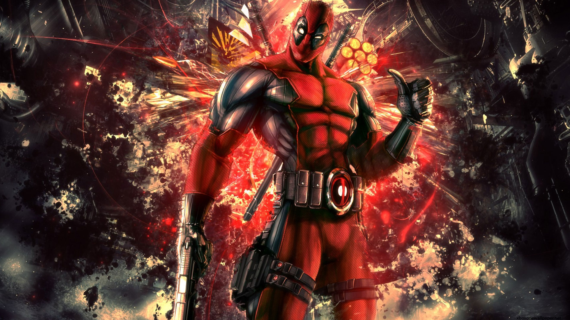 DeadPool Wade Wilson mercenary Wallpaper Game HD Wallpaper 1080p 1920x1080
