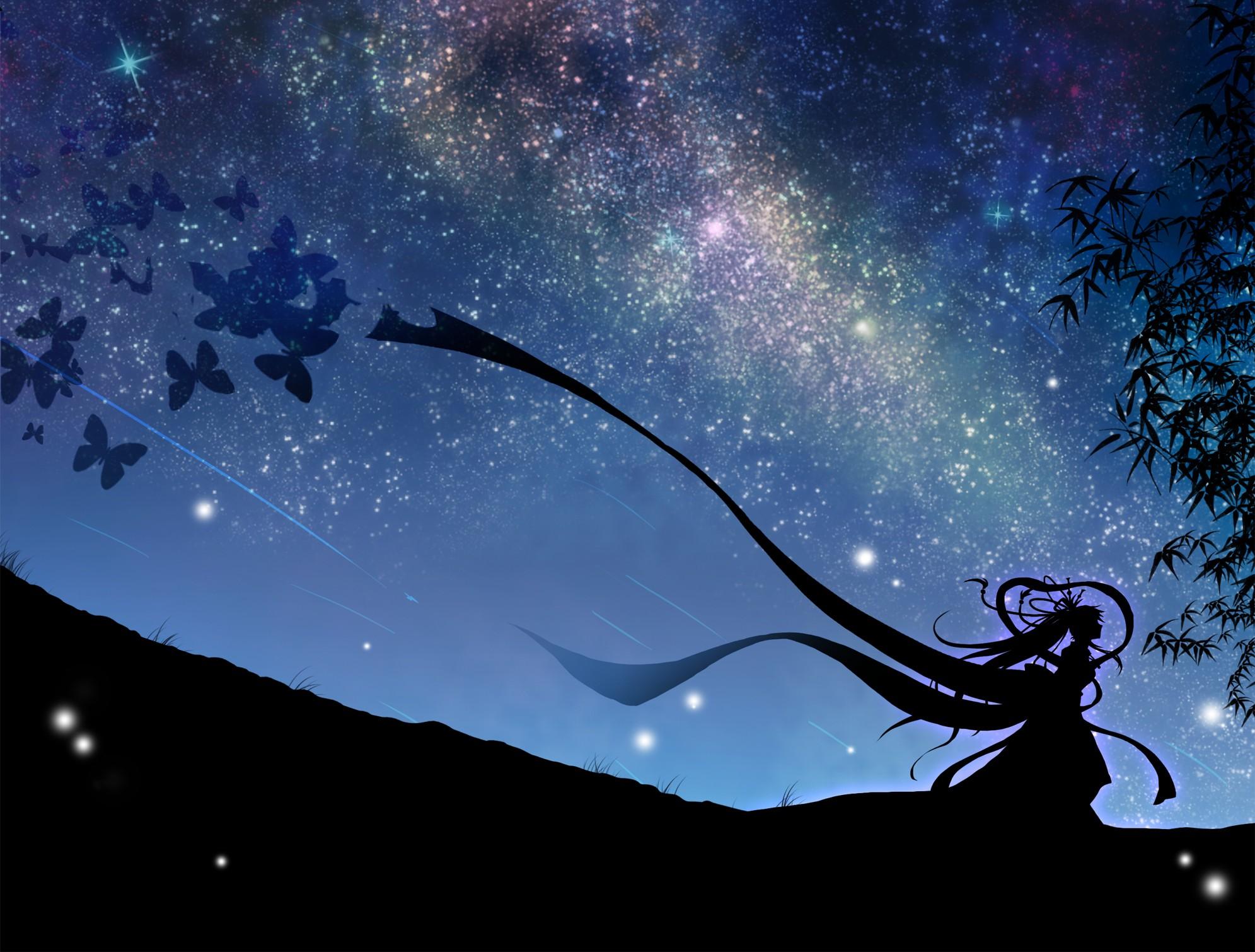 Night Stars Wallpaper 1991x1510 Night Stars Butterfly Skyscapes 1991x1510