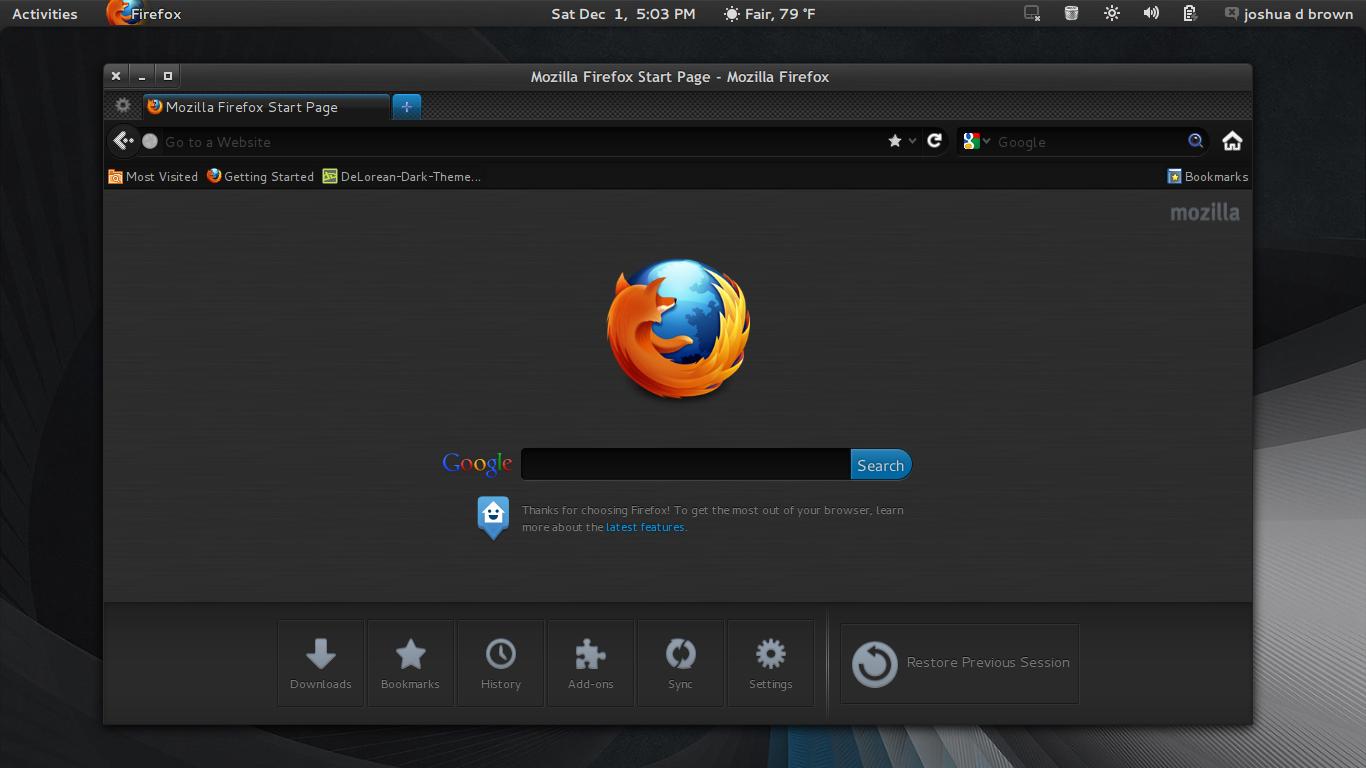 Google themes mozilla - Delorean Dark Theme 3 6 Firefox Theme 1 0 By Killhellokitty On