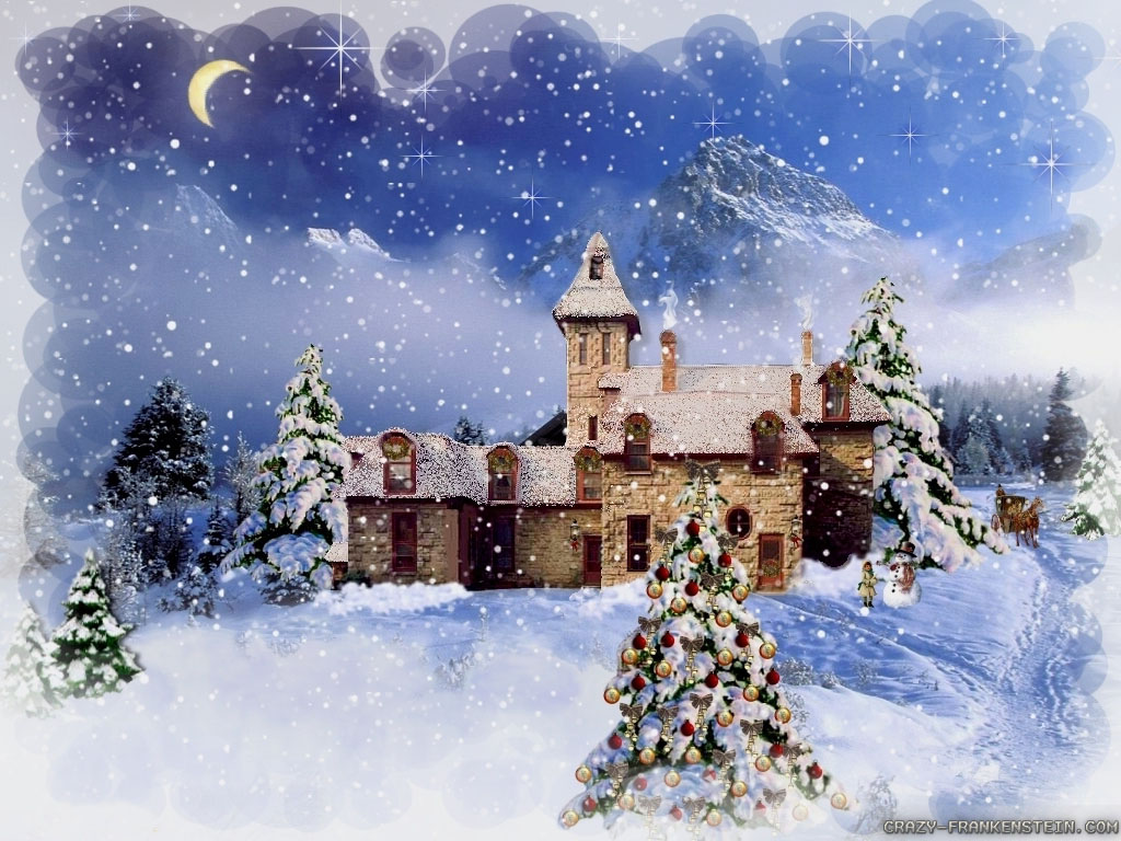 Winter Christmas Backgrounds: Country Christmas Wallpaper Widescreen